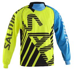 Salming Travis Goalie JSY Polo Neck (kelta-sininen)