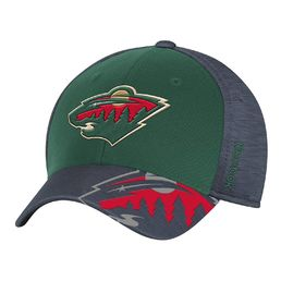 Reebok NHL Minnesota Wild Playoffs FlexFit -lippis